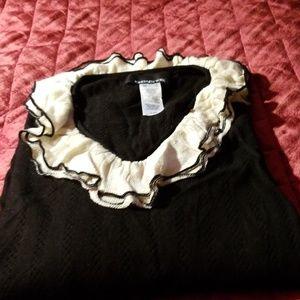 NWOT Jones New York ruffled sweater